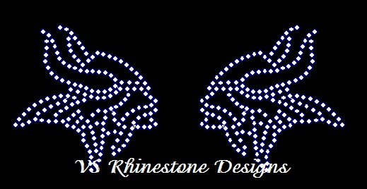 Viking Mini Rhinestone Transfers (2)